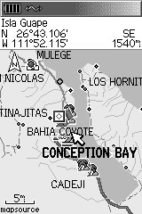 Conception Bay Map GPS Grayscale