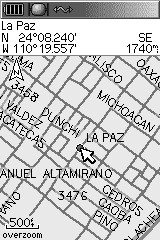 La Paz Map GPS - Grayscale
