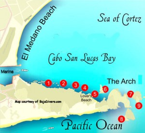 Land's End Dive Map