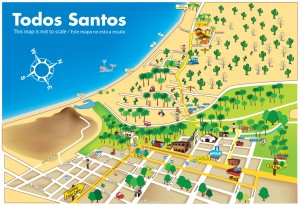 Map Todos Santos Centro to CalyCanto Casitas