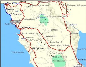 Baja California Sur Map GPS