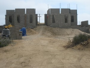 Construction on Todos Santos Dunes